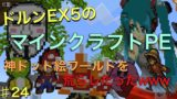 ドルンEX5のマインクラフトPE♯24 神ドット絵の大爆発